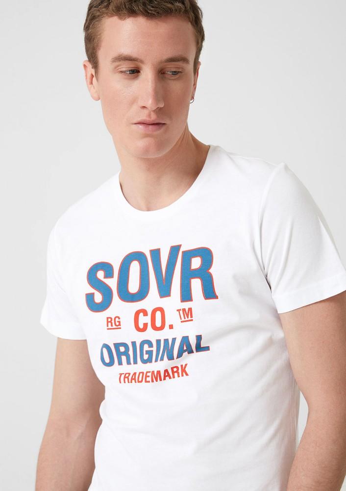 e7d330fe0b09 S.OLIVER Férfi póló fehér - Talizmán Sport & Fashion