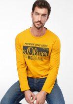 S.OLIVER Férfi póló okker