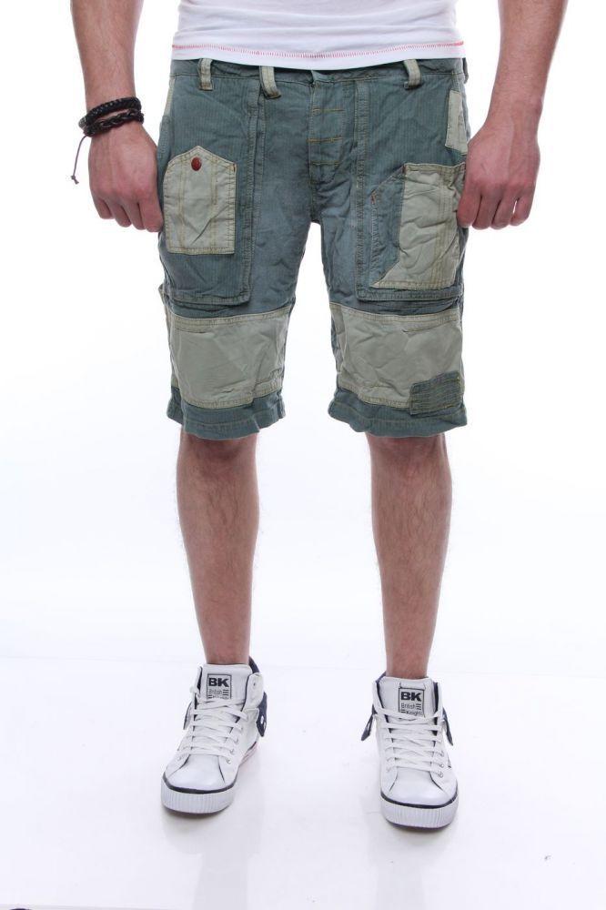 DEVERGO Férfi farmer bermuda zöld - Talizmán Sport   Fashion 1b9320c613