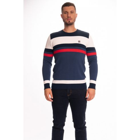 BUDMIL ALAN kék-piros Férfi kötött pulóver