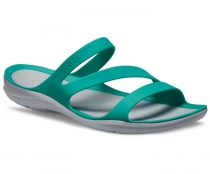 CROCS SWIFTWATER SANDAL W tropical teal/light gray Nõi papucs