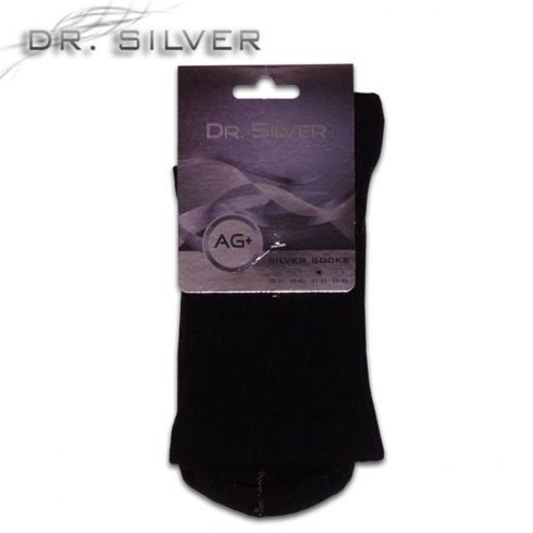 HERBERT DR. SILVER MEDICAL ezüst zokni fekete
