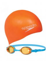 SPEEDO V2 SWIM SET JUNIOR ASSORTED Úszószemüveg+sapka szett