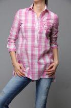 MAYO CHIX WELSH kockás ing fehér-pink