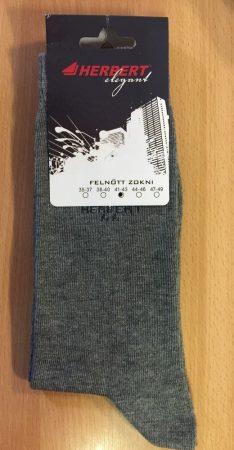 HERBERT Elegant boka zokni melirszürke